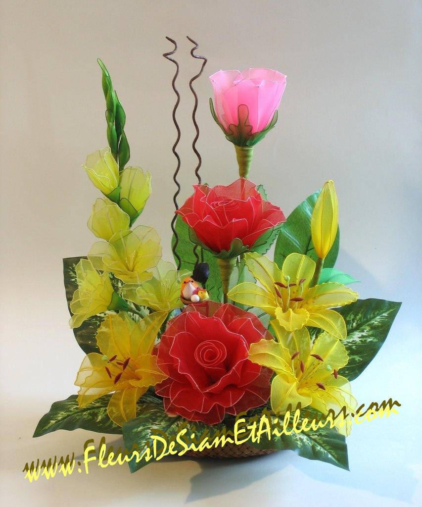 Glaïeuls, Roses et Lis